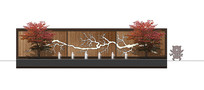 新中式组合水景墙