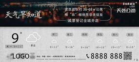 房地产微信单图天气广告