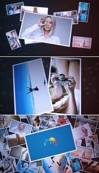 时尚三维空间照片展示相册模板