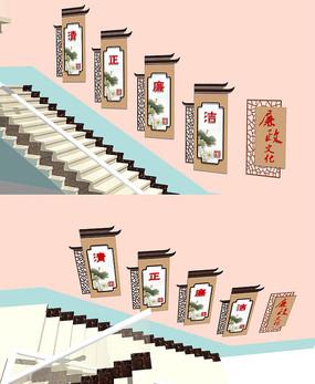 传统中式窗花镂空廉政展板