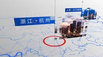 中国地图科技信息展示AE模板