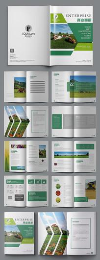绿色清新环保农业宣传画册设计