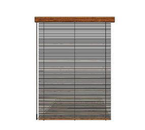 日式竹窗帘模型