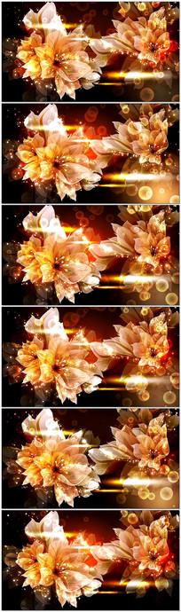 动态唯美花朵婚庆LED大屏幕