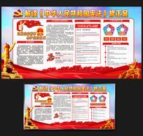 2018大气红色宪法修正展板
