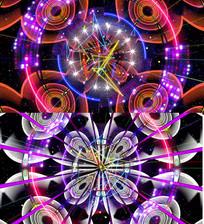 霓虹灯闪烁动感循环VJ背景视频