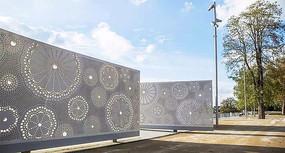现代广场景墙设计