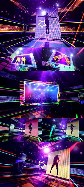 酷炫动感节奏LED舞台视频背景