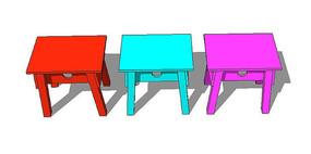 彩色儿童桌子模型