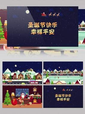 创意卡通圣诞节片头动画模板