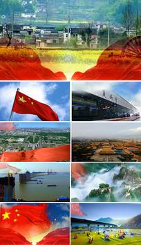 我爱你中国表演背景视频素材