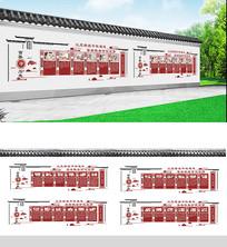 中式古典二十四孝社区文化墙