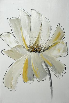 纯手绘艺术花开富贵油画无框画
