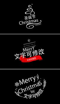 4K圣诞节字幕标题视频模板