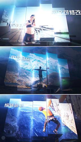 led大屏体育运动视频模板