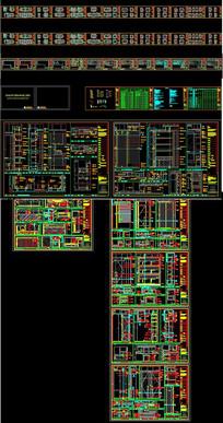 工装办公室cad设计施工图