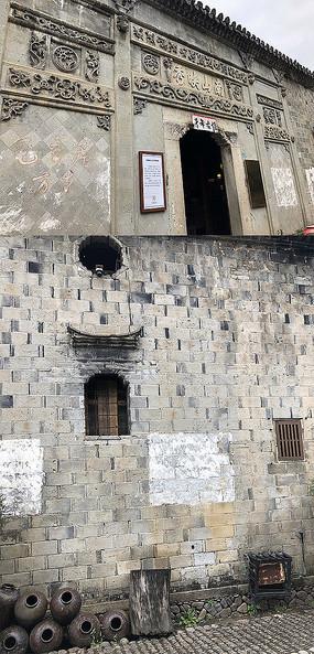 古建筑老宅门头浮雕传统纹样