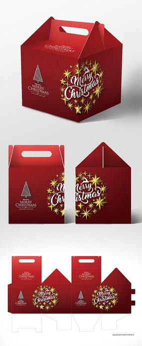 红色高档新年圣诞节包装礼盒