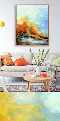 油画抽象喷绘装饰画