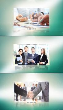 简洁大气企业宣传片头模板