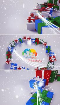 圣诞节新年片头视频模板