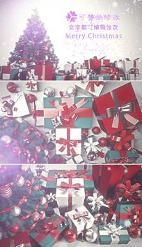 圣诞节新年祝福片头ae模板