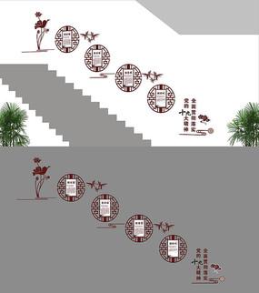 十九大楼梯党建造型墙
