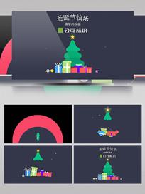 扁平化圣诞节MG动画片头