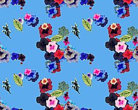 蓝色系花素材