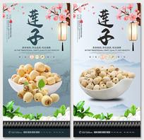 中国风中药材莲子宣传海报