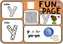 字母y学习模版