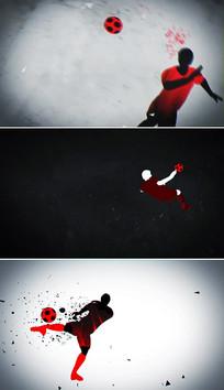 水墨风格足球比赛视频片头模板