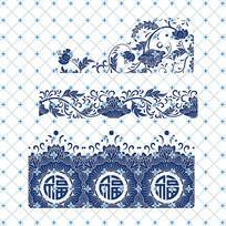 青花瓷矢量图