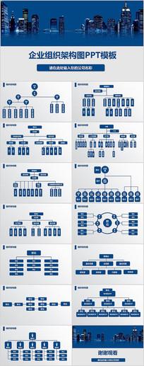 企业组织架构图PPT图表模板