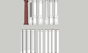 欧式石膏罗马柱组合