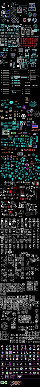 陶瓷拼花系列CAD图