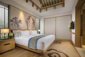 新中式客房室内设计意向图 JPG