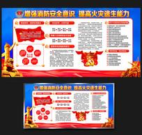 大气全国消防安全知识宣传栏