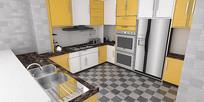 厨房SU草图大师模型