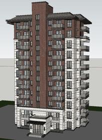 3D小高层建筑模型