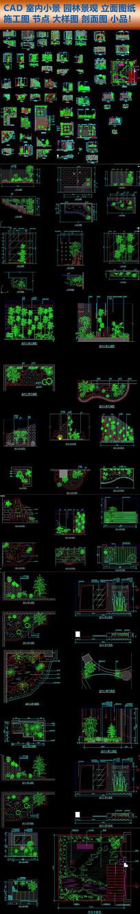 CAD室内小景园林景观绿植