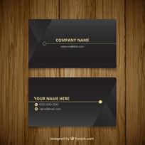 黑色企业名片设计