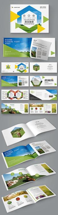 绿色几何环保农业宣传画册