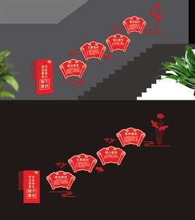 四个意识楼梯文化墙