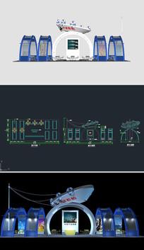 船舶展厅草图大师SU模型