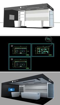 電子設備展廳草圖大師SU模型