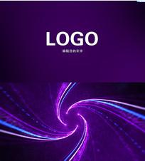 炫美粒子LOGO标志AE模板