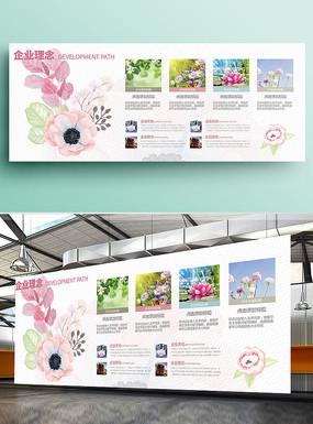 欧式田园企业理念文化墙展板