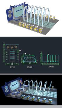 品牌电脑展厅草图大师SU模型