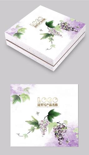 紫色葡萄化妝品包裝設計